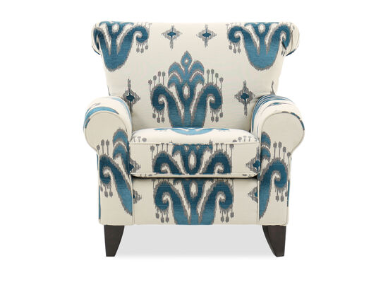 Patterned Traditional 37 Accent Chair