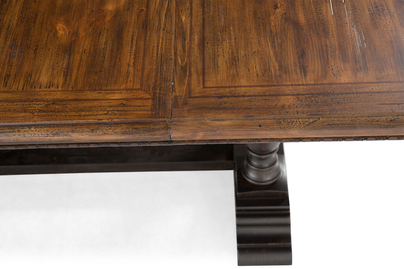 Traditional 44quot to 116quot Rectangular Trestle Dining Table  : 246A2884 from www.mathisbrothers.com size 1400 x 933 jpeg 212kB