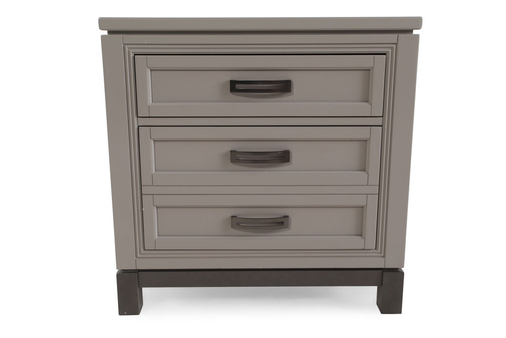 "28"" Contemporary Nightstand in Gray"