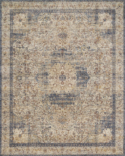 Loloi Power Loomed 5'x8' Rug in Ivory/ Beige