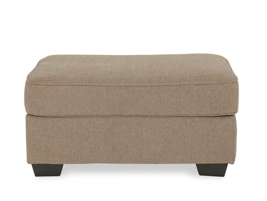 """Traditional 39"""" Oversized Accent Ottoman in Brown"""