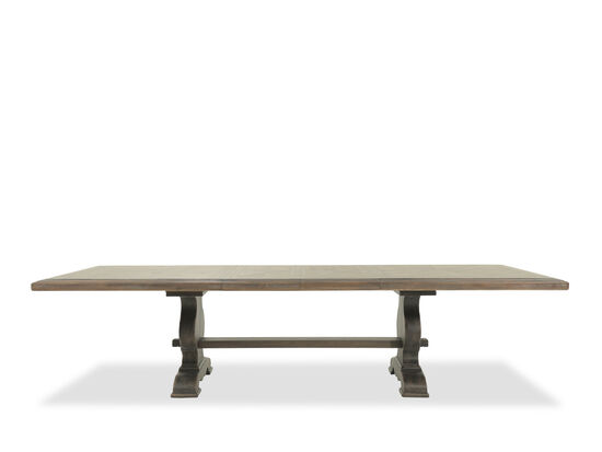 """Refined Romantic Luxury 44"""" to 122"""" Solid Wood Trestle Table in Dark Brown"""