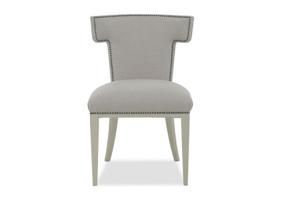 Nailhead-Trimmed 37.5'' Dining Chair in Gray