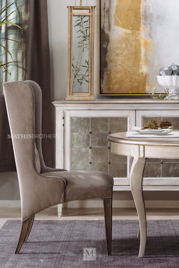 "Refined Romantic Luxury 45.5"" Host Chair in Gray"