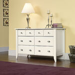 "33"" Traditional Beveled Dresser in Soft White"