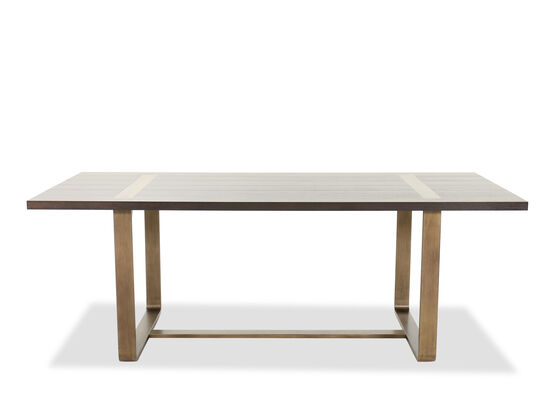 "Contemporary 84"" Rectangular Dining Table in Dark Barton"