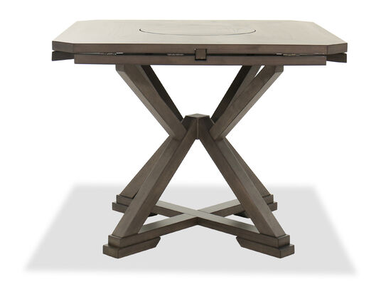 Traditional Open Pedestal Base Table in Brown