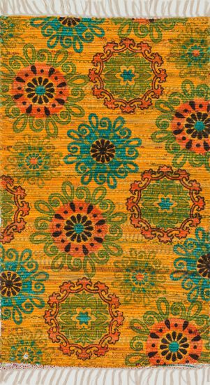 "Transitional 1'-8""x3' Rug in Yellow/Orange"