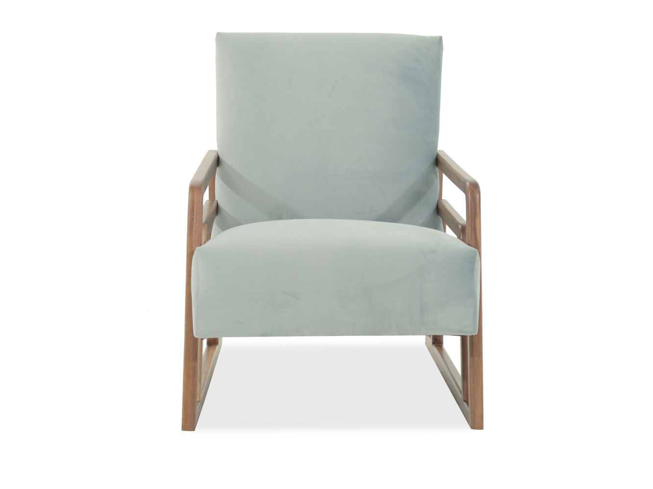 mid century modern accent chair in green mathis brothers. Black Bedroom Furniture Sets. Home Design Ideas