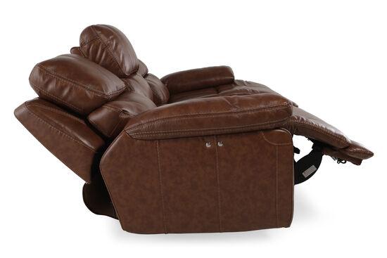 "Leather 98"" Power Reclining Sofa in Tumbleweed"