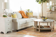 "Broyhill Rolled Arm 85"" Sofa in Beige"