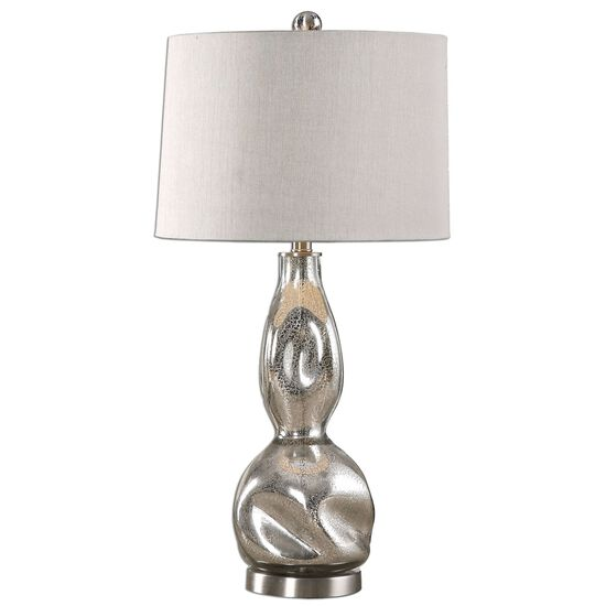 Pitted Mercury Glass Lamp