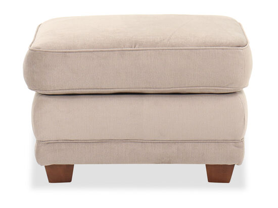 "Transitional 27"" Rectangular Ottoman in Brown"