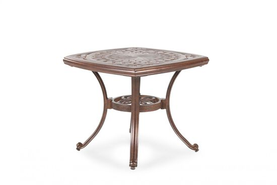 Hand-Applied Accent Traditional Cast End Tablein Burgundy