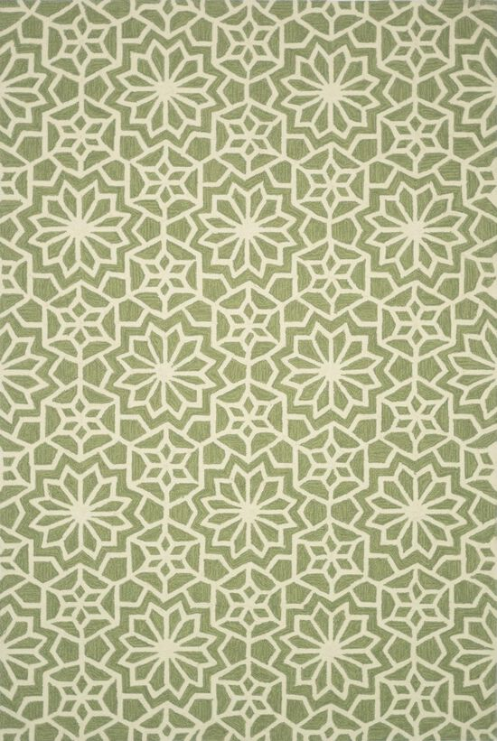 """Transitional 2'-3""""x3'-9"""" Rug in Green"""