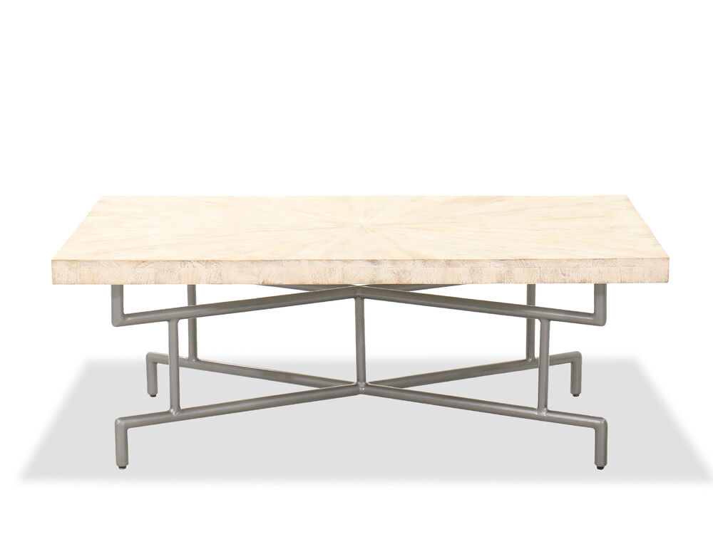 "48"" Rectangular Casual Cocktail Table in Beige"
