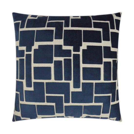 Aura Pillow in Navy Blue