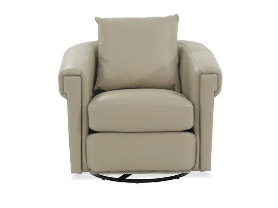 "Transitional 35"" Swivel Glider Chair in Beige"