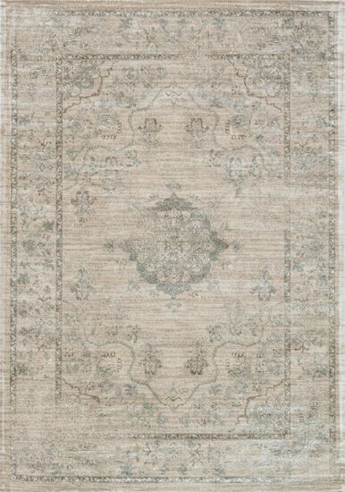 """Transitional 5'-0""""x7'-6"""" Rug in Beige/Blue"""