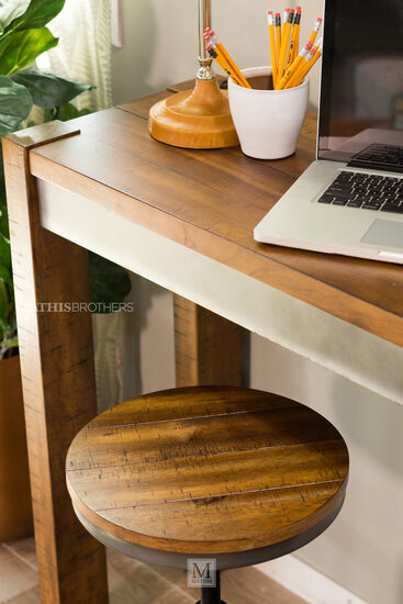 "Casual 16"" Solid Wood Counter Table in Warm Brown"