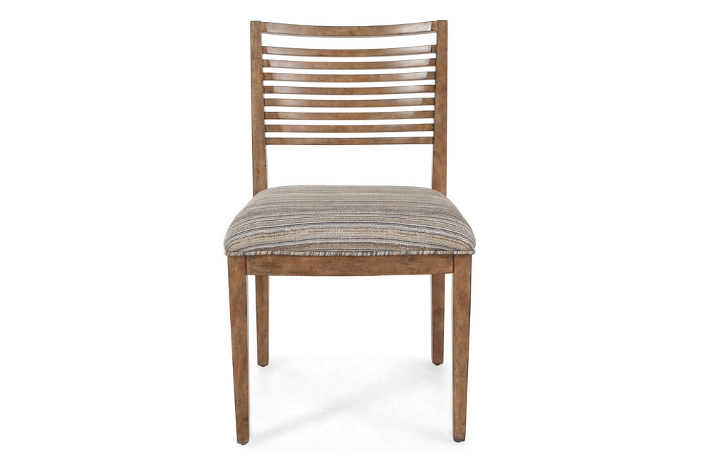 "Slat Back Contemporary 20"" Chair in Brown"