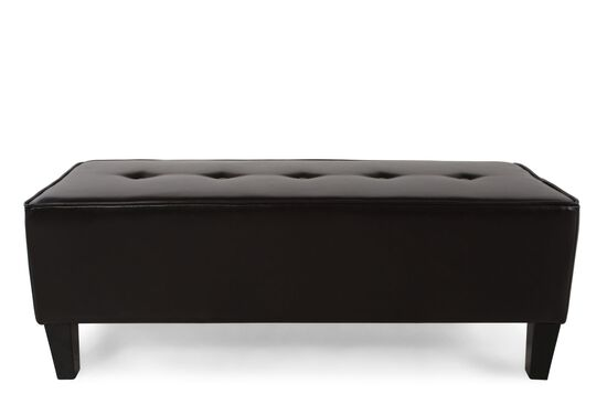 """Tufted Transitional 49"""" Ottoman in Brown"""