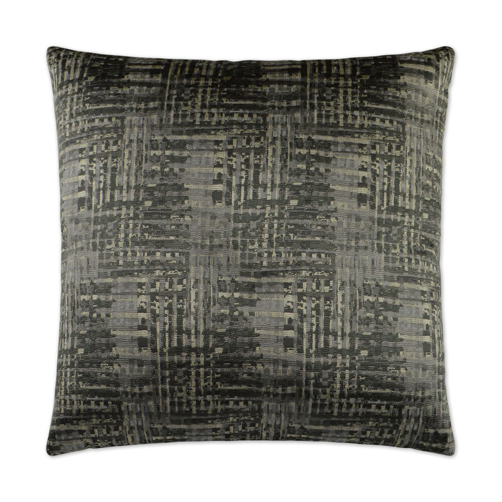 Resonance II Pillow in Charcoal Gray