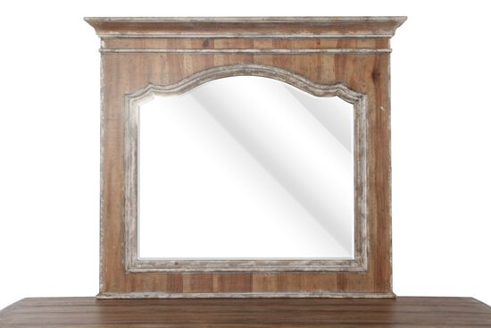 "40"" Tradtional Weathered Mirror in Medium Brown"