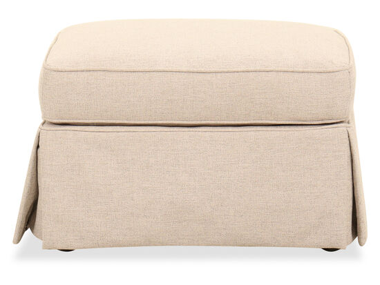 """Traditional 29"""" Ottoman in Beige"""