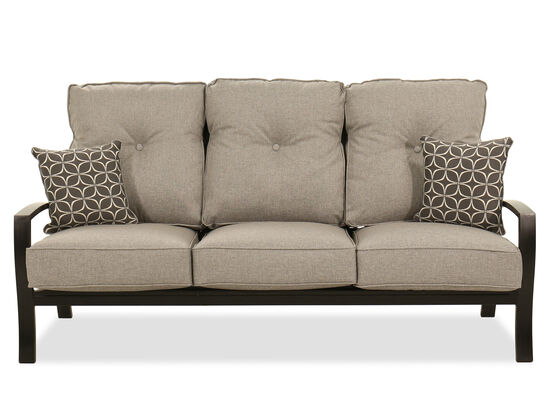 Modern Aluminum Sofa in Dark Brown