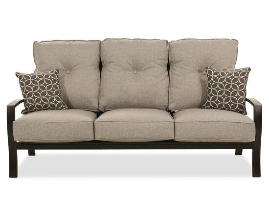 Modern Aluminum Sofa in Dark Brown