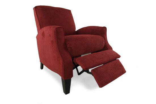 "Contemporary 28"" Recliner in Crimson"