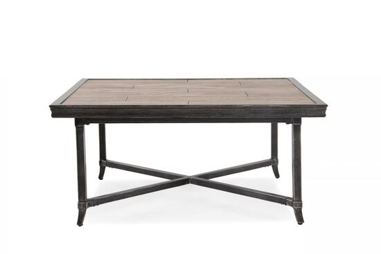 Rectangular Aluminum Cocktail Table in Brown
