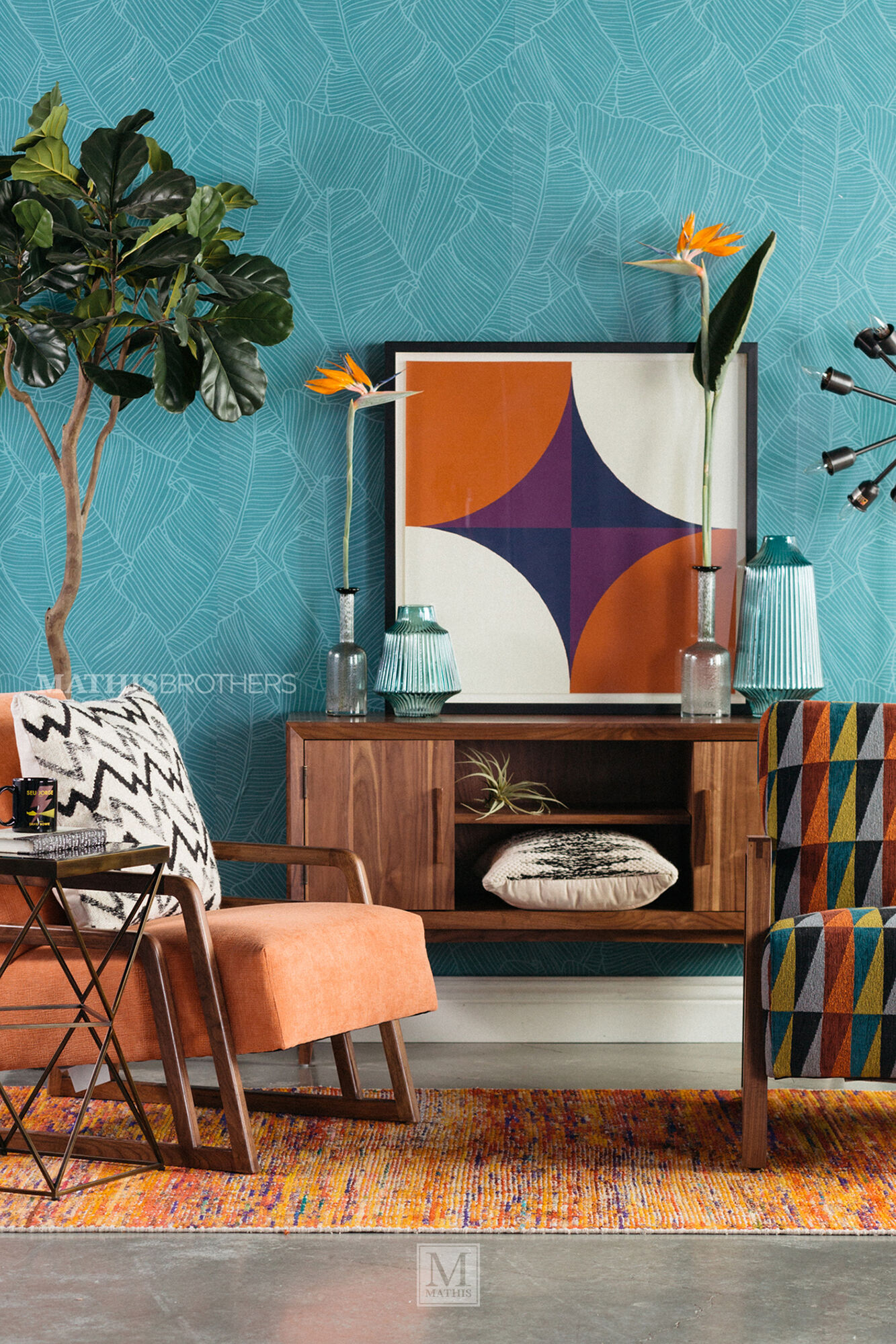 Modern 26 Quot Accent Chair In Melon Mathis Brothers Furniture