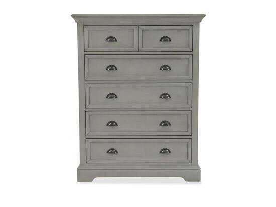 Contemporary Six-Drawer Chest in Gray