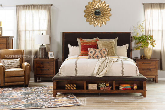 Ashley Ralene Brown Queen Storage Bed