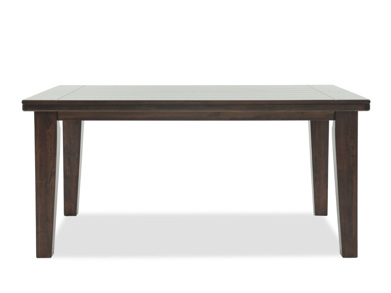 Contemporary 65 dining table in burnished dark brown for Dark kitchen table