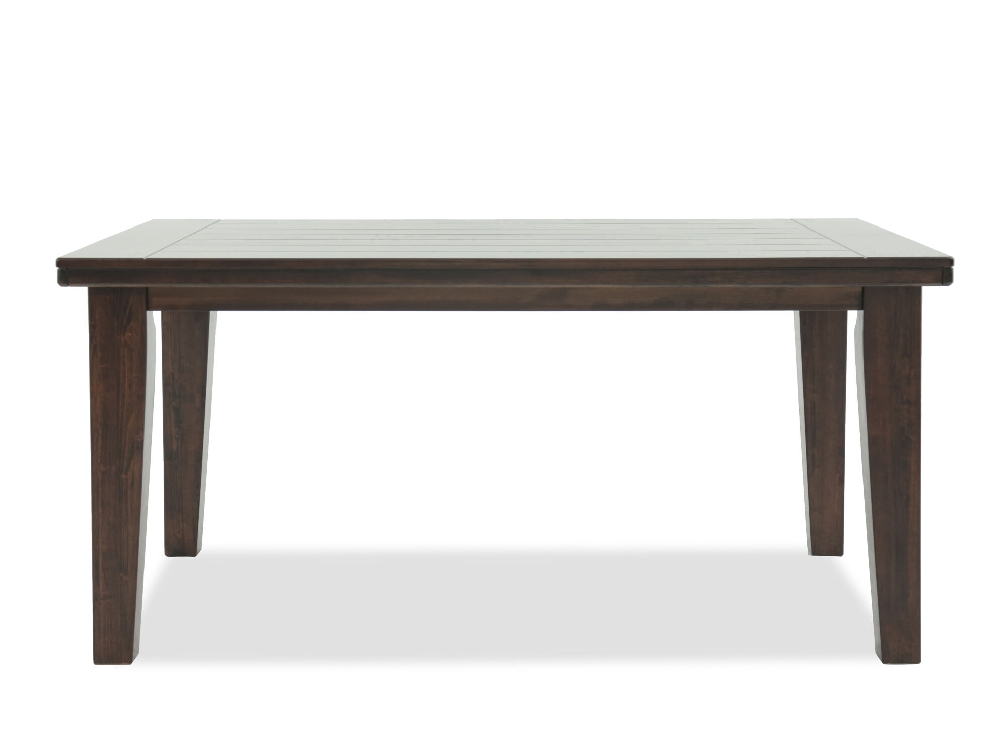 Charming Contemporary 65u0026quot; Dining Table In Burnished Dark Brown ...