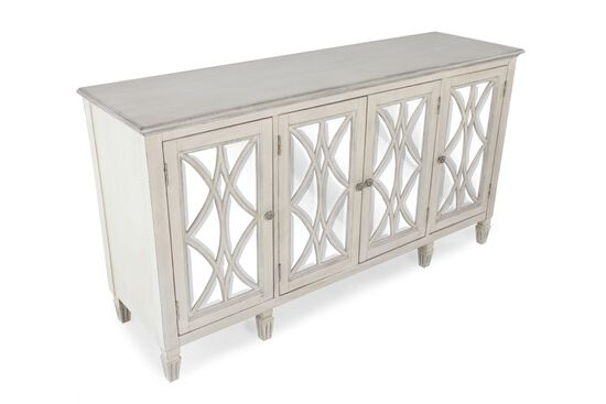 36'' Four-Door Contemporary Accent Chest in White