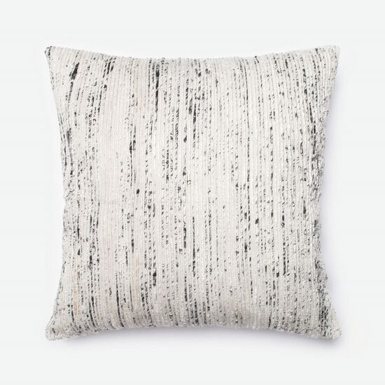 "22""x22"" Pillow Cover Only in Silver/Multi"