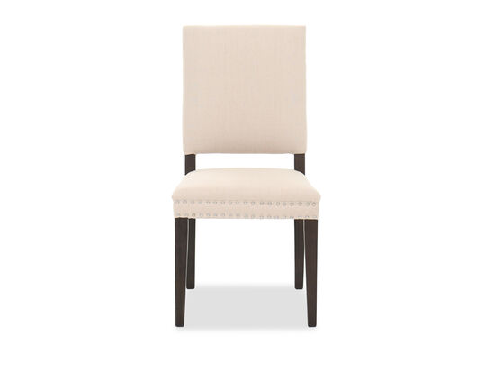 """Contemporary 19"""" Armless Dining Chair in Beige"""