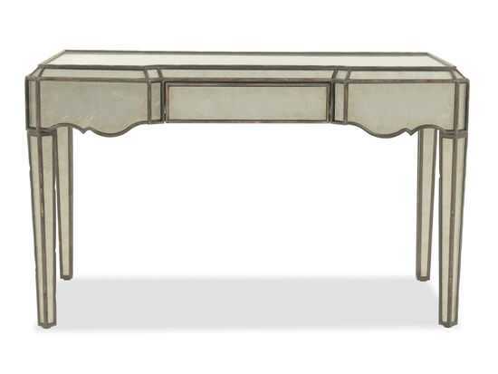 "50"" Glam Mirrored Writing Desk in Silver"
