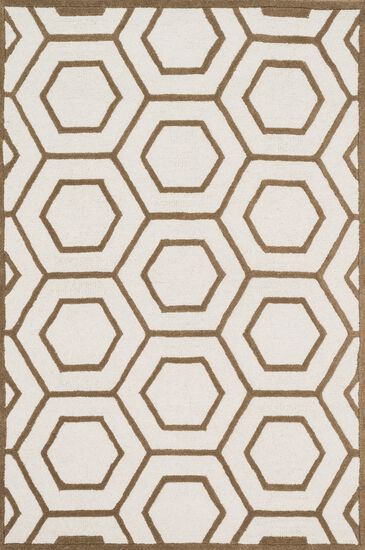 "Transitional 7'-6""x7'-6"" Square Rug in Ivory/Taupe"