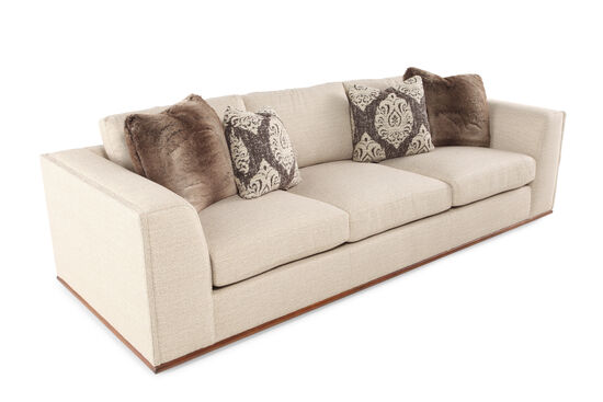 "Low-Profile 107.5"" Sofa in Cream"