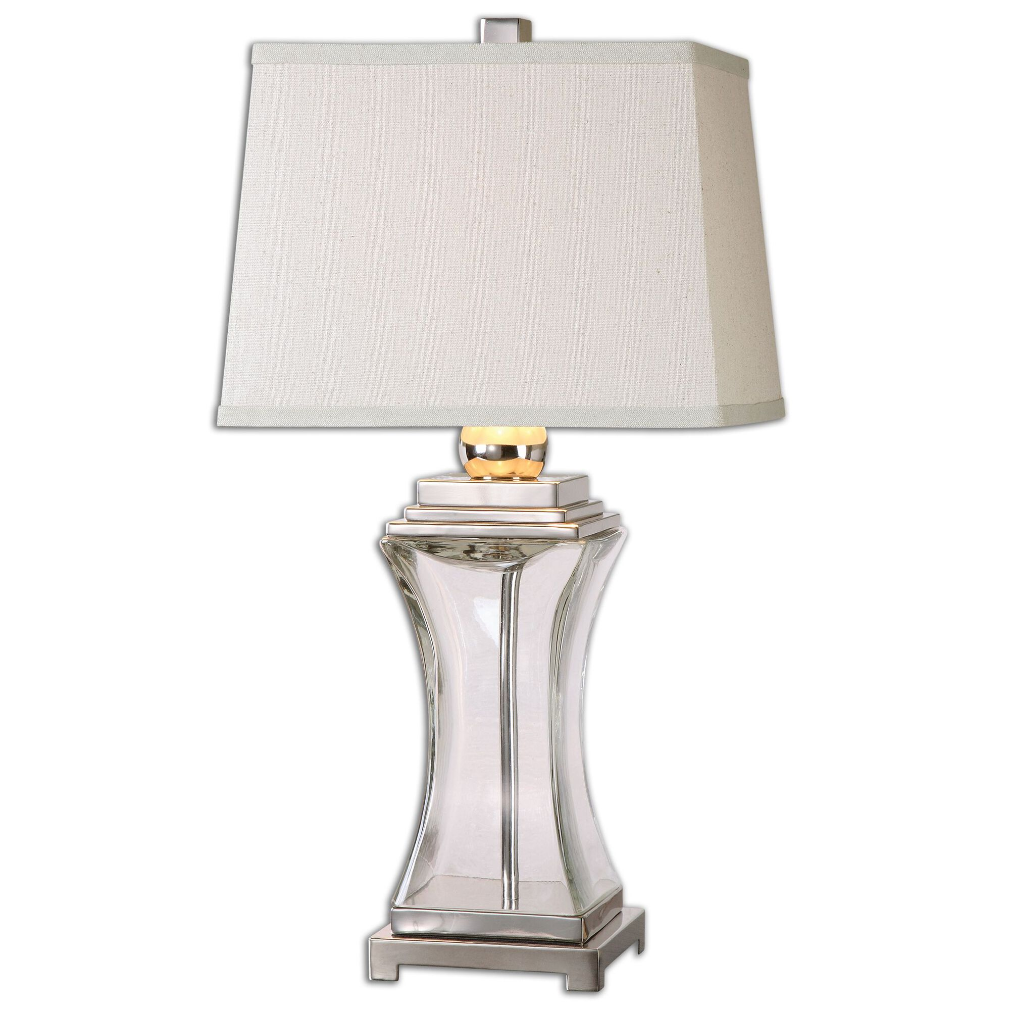 Rectangular Shade Hourglass Table Lamp Mathis Brothers Furniture