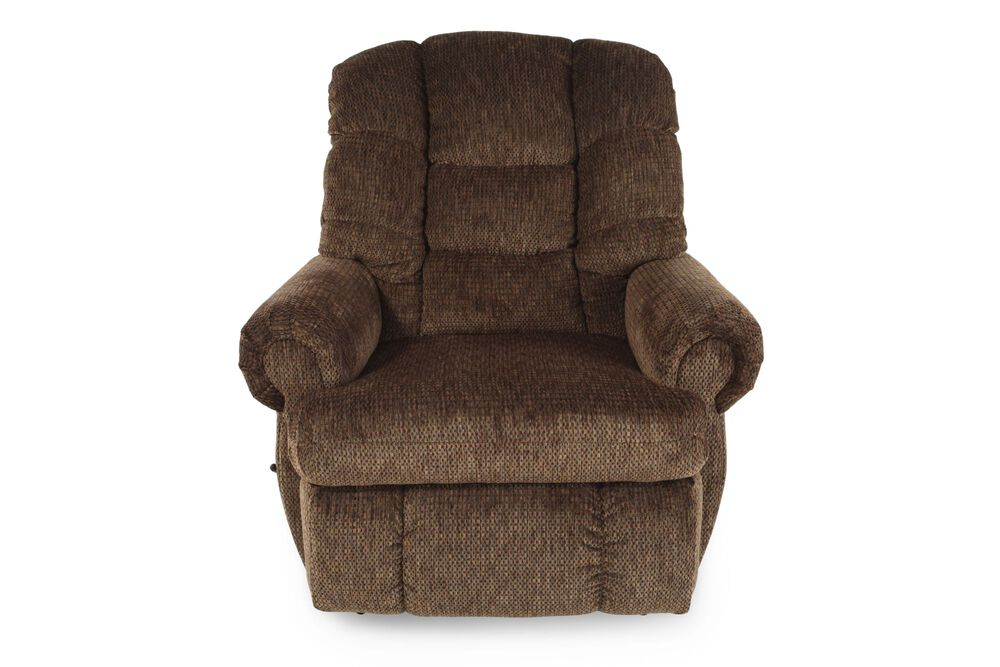 Images Textured Casual 44 Recliner In Brown