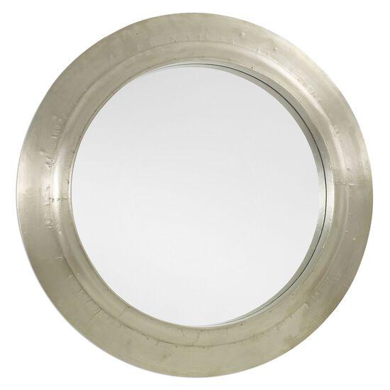 """30"""" Round Accent Mirror in Silver"""