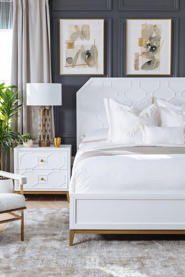 """28"""" Contemporary Two-Drawer Nightstand in White"""