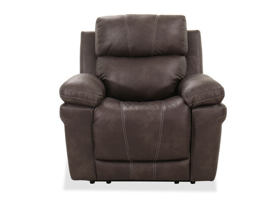 "Contemporary 40"" Power Recliner in Midnight"