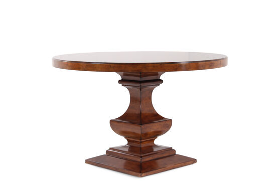 """Traditional 48"""" Round Pedestal Table in Distressed Chestnut"""